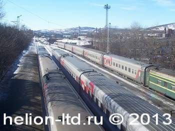 """летнее расписание движения железнодорожных поездов по станции """"Мурманск"""""""