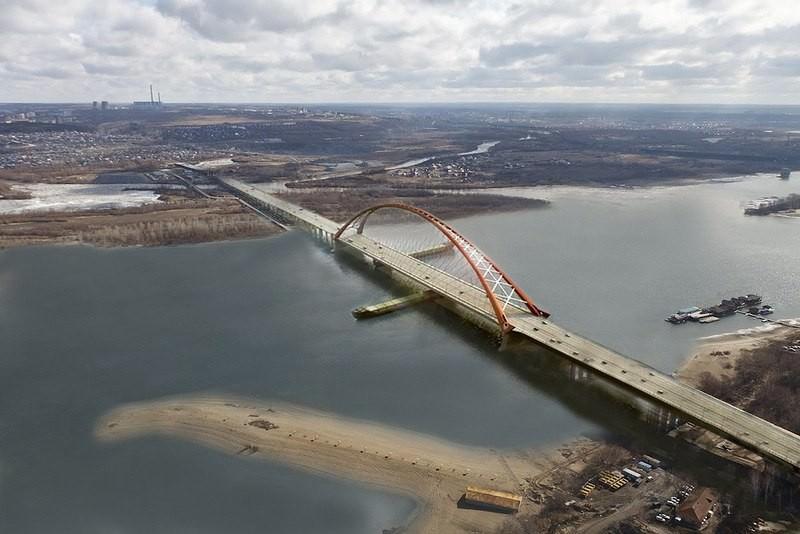 открытие Бугринского моста - сооружения с самым большим арочным пролетом в России