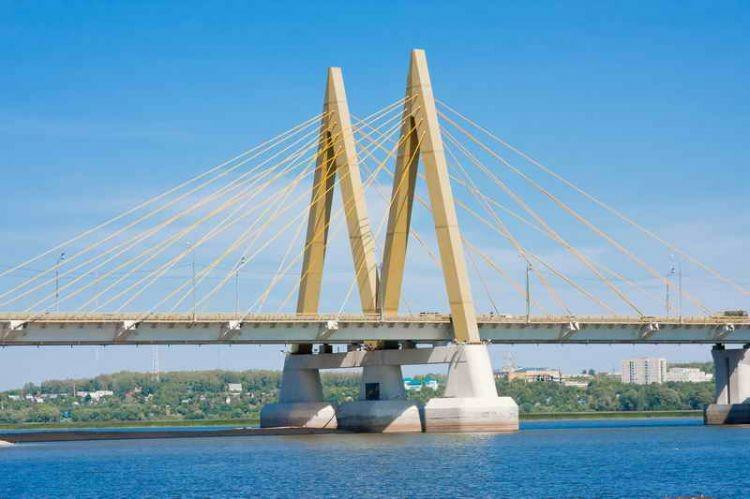 «Миллениум» - самый высокий мост в Татарстане - возведен в виде двух рядом стоящих самостоятельных мостов